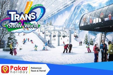 wisata trans snow world bekasi